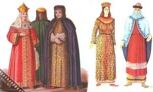 Мужской и женский костюм в Киевской Руси