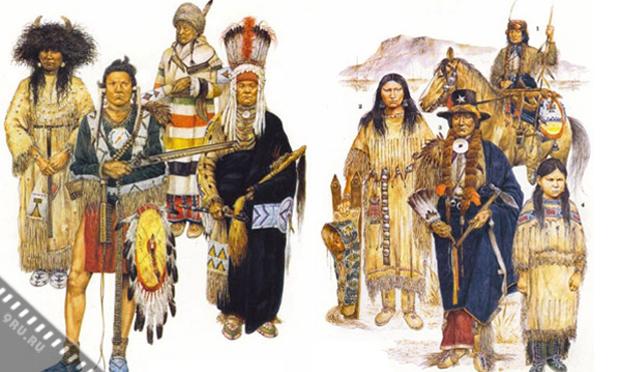 Как одевались индейцы?
